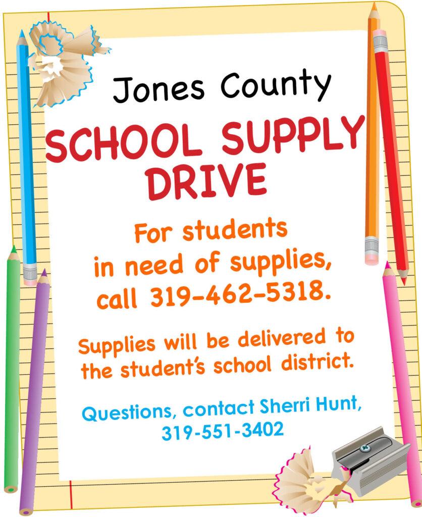 Jones County School Supply Drive 2021